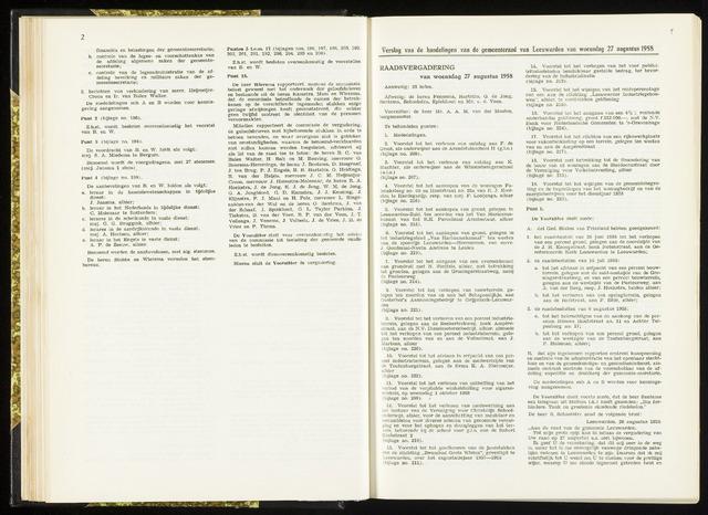 Raadsverslagen van de gemeente Leeuwarden, 1865-2007 (Notulen) 1958-08-27