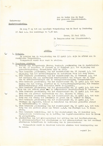 raadsverslagen Idaarderadeel 1935-1983 1953-06-18