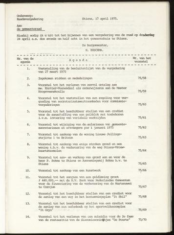 Notulen van de gemeenteraad van Leeuwarderadeel 1975-03-27