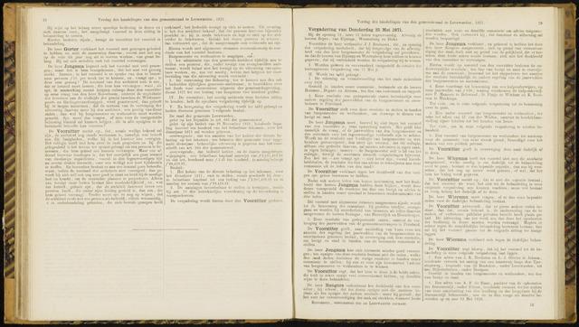 Raadsverslagen van de gemeente Leeuwarden, 1865-2007 (Notulen) 1871-05-25