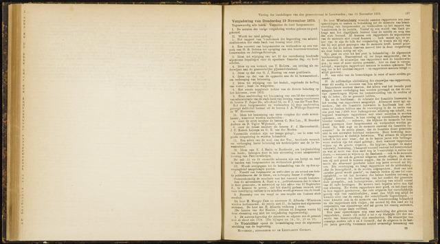 Raadsverslagen van de gemeente Leeuwarden, 1865-2007 (Notulen) 1873-11-13