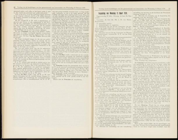 Raadsverslagen van de gemeente Leeuwarden, 1865-2007 (Notulen) 1939-03-15
