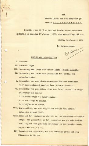 raadsverslagen Idaarderadeel 1935-1983 1938