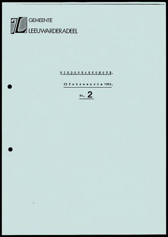 Notulen van de gemeenteraad van Leeuwarderadeel 1989-02-23
