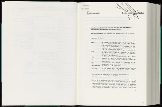 Raadsverslagen van de gemeente Leeuwarden, 1865-2007 (Notulen) 1993