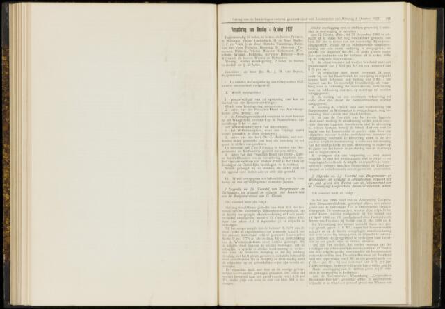 Raadsverslagen van de gemeente Leeuwarden, 1865-2007 (Notulen) 1927-10-04