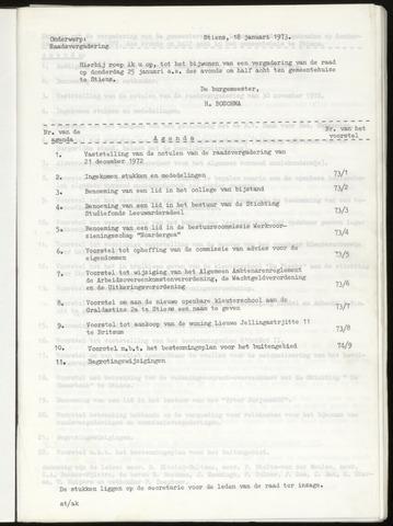 Notulen van de gemeenteraad van Leeuwarderadeel 1972-12-21