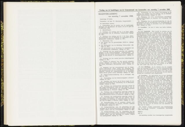 Raadsverslagen van de gemeente Leeuwarden, 1865-2007 (Notulen) 1966-11-07