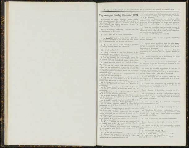 Raadsverslagen van de gemeente Leeuwarden, 1865-2007 (Notulen) 1904-01-26