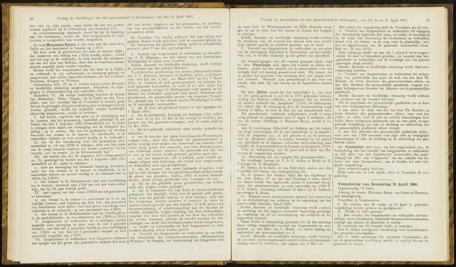 Raadsverslagen van de gemeente Leeuwarden, 1865-2007 (Notulen) 1881-04-21