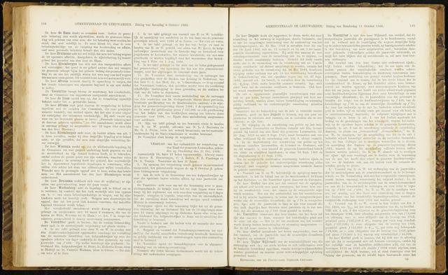 Raadsverslagen van de gemeente Leeuwarden, 1865-2007 (Notulen) 1866-10-11