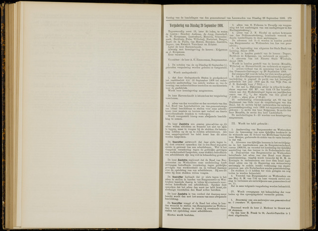 Raadsverslagen van de gemeente Leeuwarden, 1865-2007 (Notulen) 1908-09-29