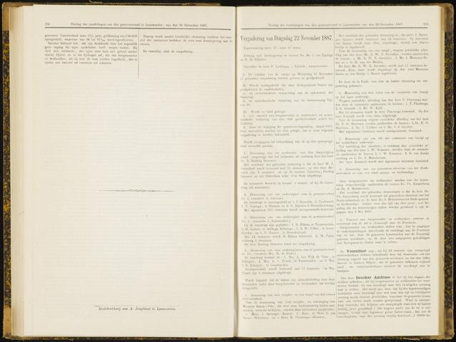 Raadsverslagen van de gemeente Leeuwarden, 1865-2007 (Notulen) 1887-11-22