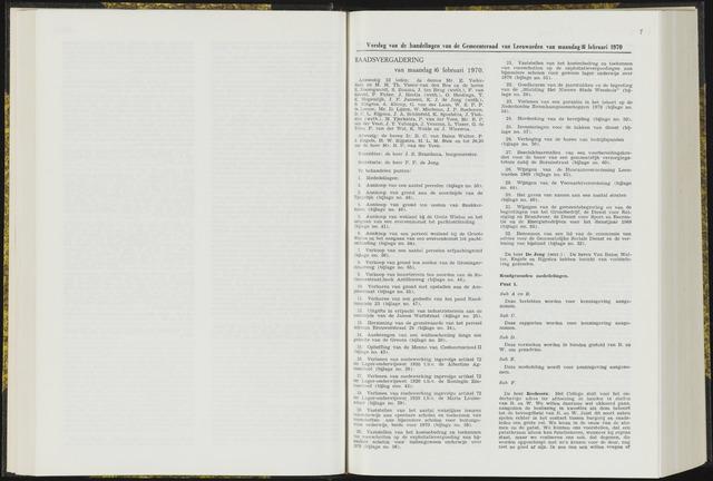 Raadsverslagen van de gemeente Leeuwarden, 1865-2007 (Notulen) 1970-02-16