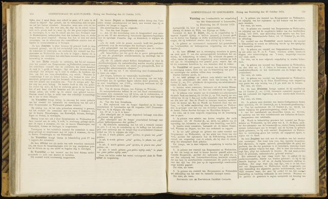 Raadsverslagen van de gemeente Leeuwarden, 1865-2007 (Notulen) 1870-10-27