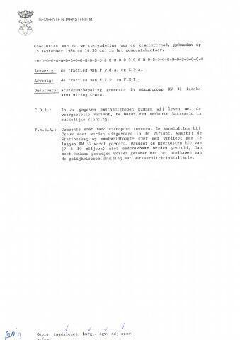 Boarnsterhim vergaderstukken gemeenteraad  1986-09-15