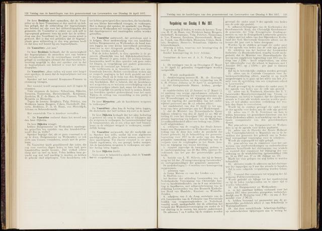 Raadsverslagen van de gemeente Leeuwarden, 1865-2007 (Notulen) 1917-05-08