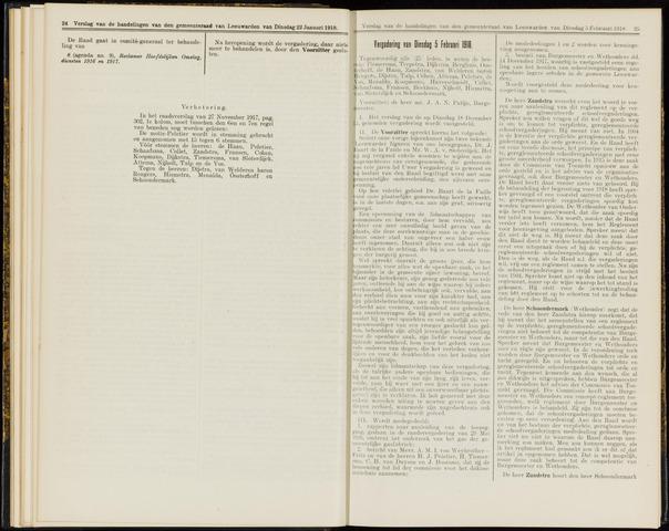 Raadsverslagen van de gemeente Leeuwarden, 1865-2007 (Notulen) 1918-02-05