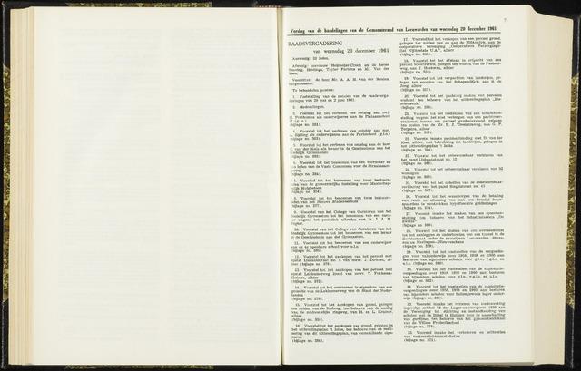 Raadsverslagen van de gemeente Leeuwarden, 1865-2007 (Notulen) 1961-12-20