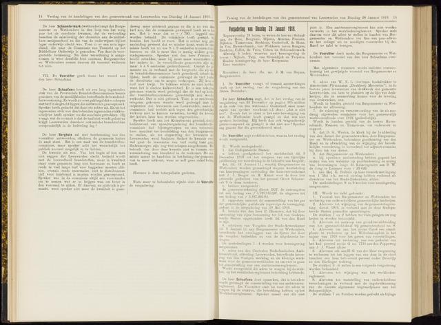 Raadsverslagen van de gemeente Leeuwarden, 1865-2007 (Notulen) 1919-01-28