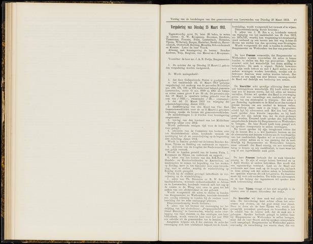 Raadsverslagen van de gemeente Leeuwarden, 1865-2007 (Notulen) 1913-03-25