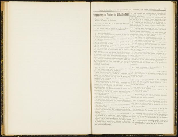 Raadsverslagen van de gemeente Leeuwarden, 1865-2007 (Notulen) 1897-10-26