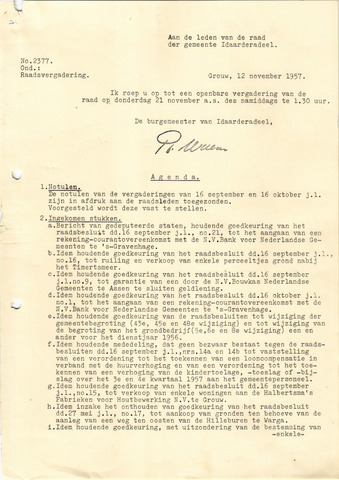 raadsverslagen Idaarderadeel 1935-1983 1957-11-21