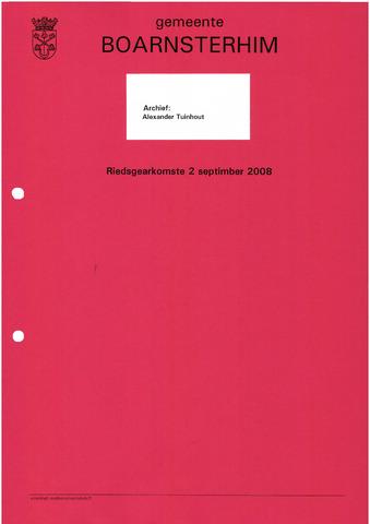 Boarnsterhim vergaderstukken gemeenteraad  2008-09-02