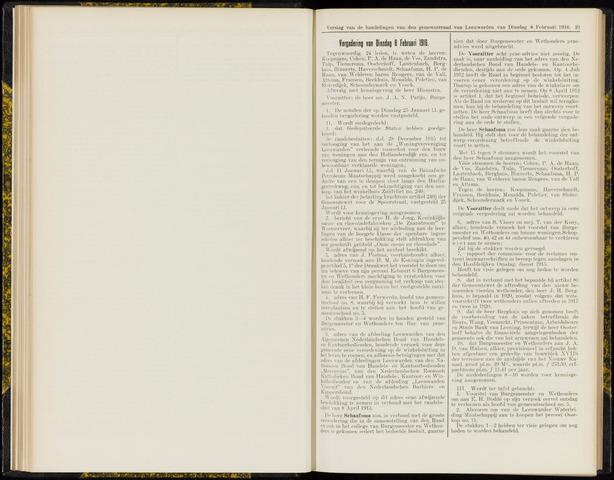 Raadsverslagen van de gemeente Leeuwarden, 1865-2007 (Notulen) 1916-02-08