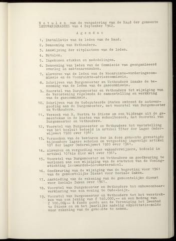 Notulen van de gemeenteraad van Leeuwarderadeel 1962-09-04