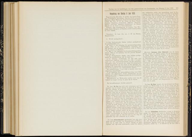 Raadsverslagen van de gemeente Leeuwarden, 1865-2007 (Notulen) 1920-06-08