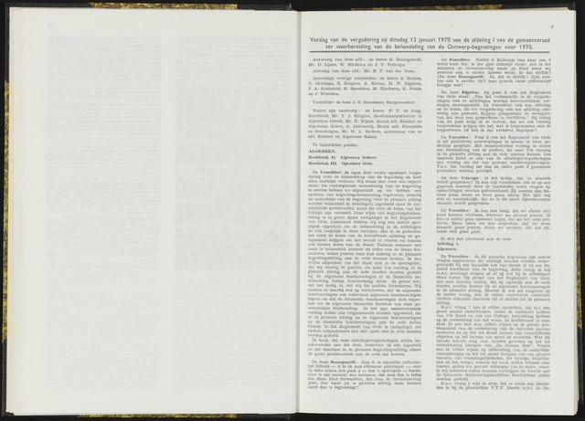 Raadsverslagen van de gemeente Leeuwarden, 1865-2007 (Notulen) 1970-01-13