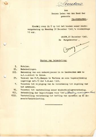 raadsverslagen Idaarderadeel 1935-1983 1940-12-30