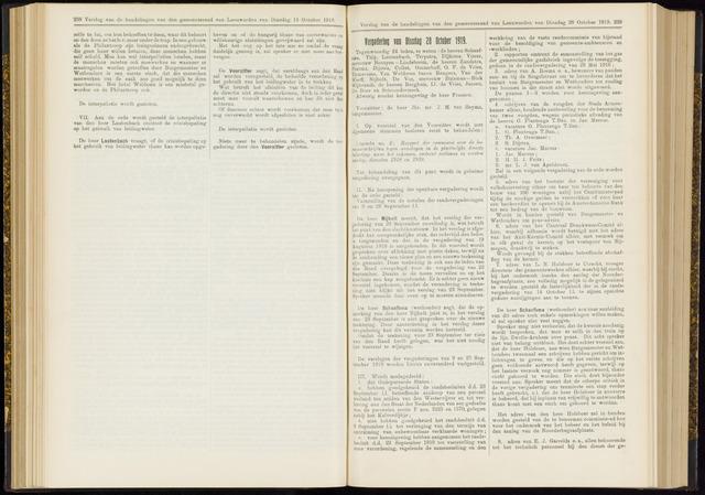 Raadsverslagen van de gemeente Leeuwarden, 1865-2007 (Notulen) 1919-10-28