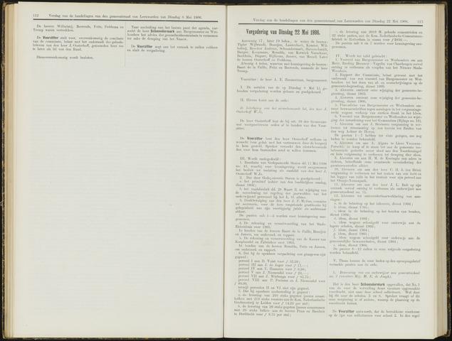 Raadsverslagen van de gemeente Leeuwarden, 1865-2007 (Notulen) 1906-05-22