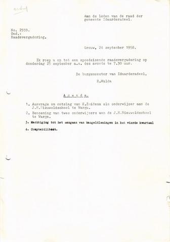 raadsverslagen Idaarderadeel 1935-1983 1958-09-25