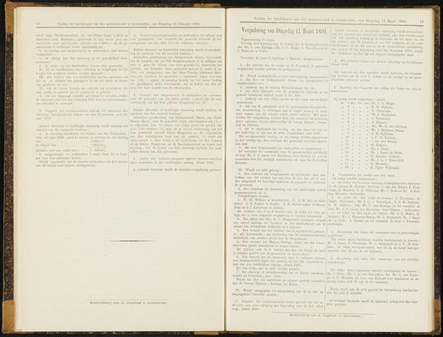Raadsverslagen van de gemeente Leeuwarden, 1865-2007 (Notulen) 1890-03-11