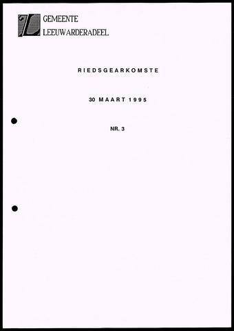 Notulen van de gemeenteraad van Leeuwarderadeel 1995-03-30