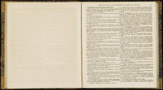 Raadsverslagen van de gemeente Leeuwarden, 1865-2007 (Notulen) 1875-05-13