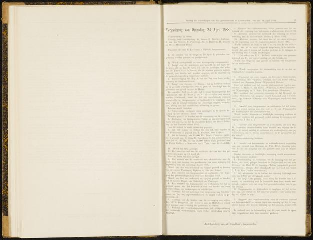 Raadsverslagen van de gemeente Leeuwarden, 1865-2007 (Notulen) 1888-04-24