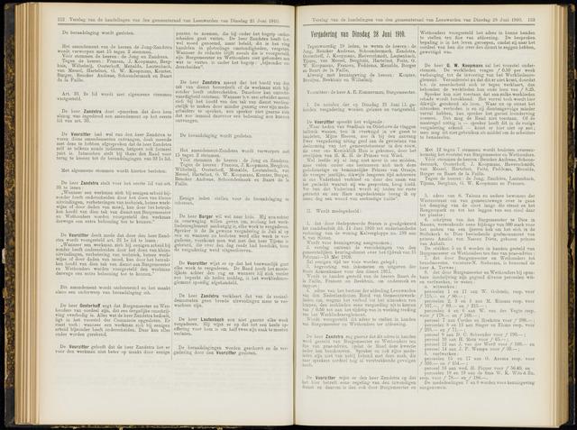 Raadsverslagen van de gemeente Leeuwarden, 1865-2007 (Notulen) 1910-06-28