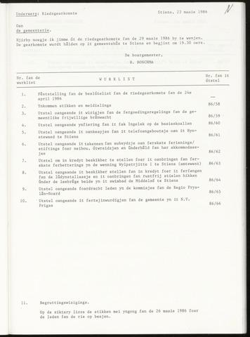 Notulen van de gemeenteraad van Leeuwarderadeel 1986-05-29