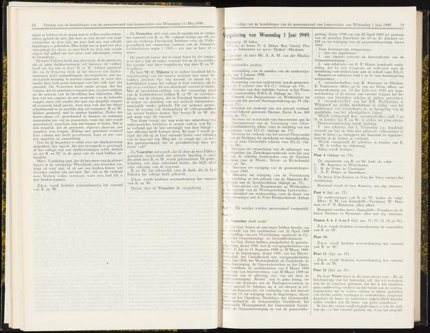 Raadsverslagen van de gemeente Leeuwarden, 1865-2007 (Notulen) 1949-06-01