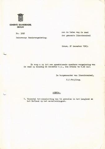 raadsverslagen Idaarderadeel 1935-1983 1963-12-24