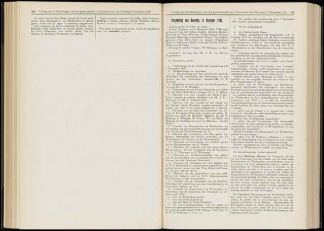 Raadsverslagen van de gemeente Leeuwarden, 1865-2007 (Notulen) 1931-12-14