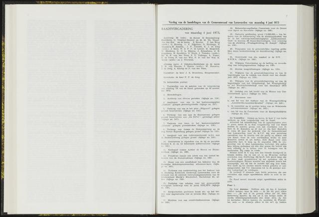 Raadsverslagen van de gemeente Leeuwarden, 1865-2007 (Notulen) 1973-06-04