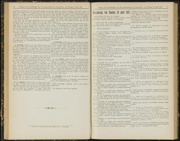 Raadsverslagen van de gemeente Leeuwarden, 1865-2007 (Notulen) 1901-04-23