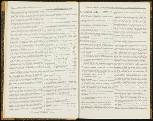 Raadsverslagen van de gemeente Leeuwarden, 1865-2007 (Notulen) 1893-01-31