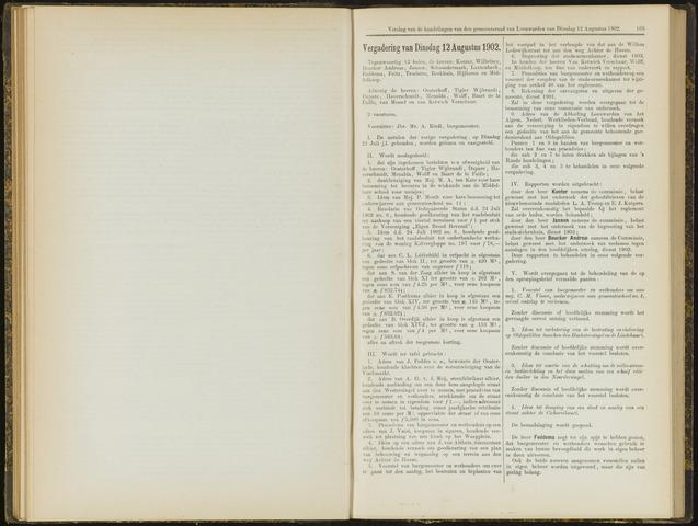 Raadsverslagen van de gemeente Leeuwarden, 1865-2007 (Notulen) 1902-08-12