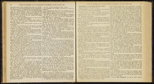 Raadsverslagen van de gemeente Leeuwarden, 1865-2007 (Notulen) 1884-04-26